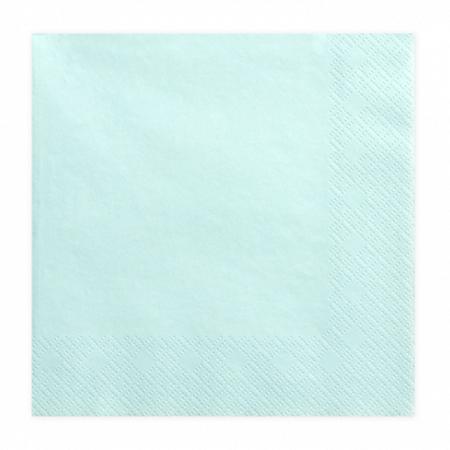 Party Deco® Troslojne salvete Pale Turquoise 20 komada