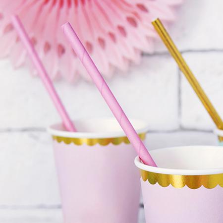 Slika za Party Deco®  Papirne slamice Light Pink 10 komada