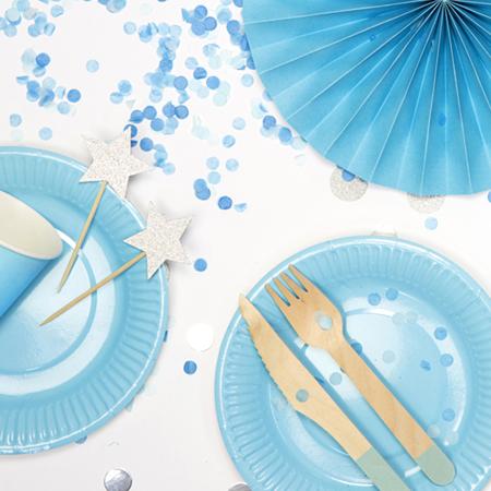 Slika za Party Deco Drveni pribor Mint 18 komada