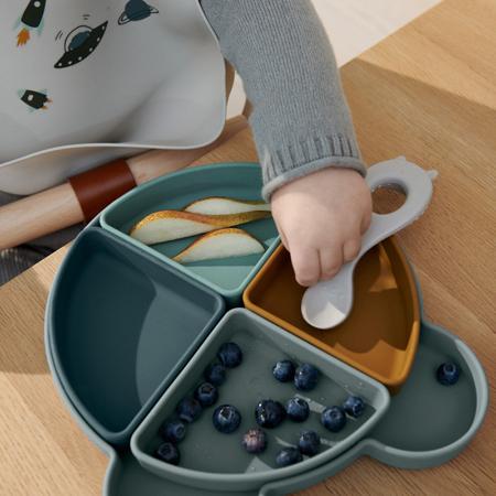 Slika za Liewood® Silikonski tanjurić s četiri posudice Arne Mr Bear Blue Fog Multi Mix