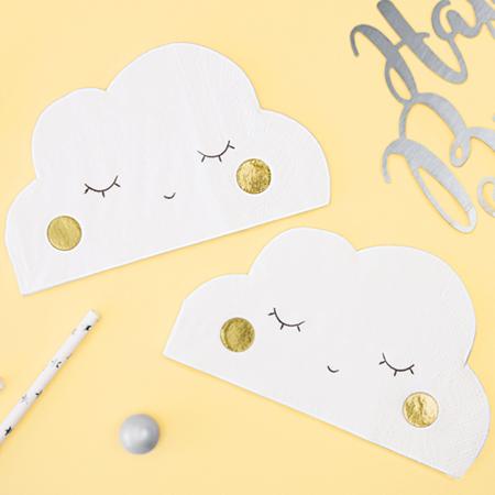 Slika za Party Deco® Salavete Oblak 20 komada