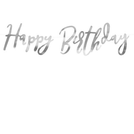 Slika za Party Deco® Viseći natpis Happy Birthday Silver
