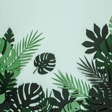 Slika za Party Deco® Dekoracija za stol Aloha Tropski Listovi 21 kom