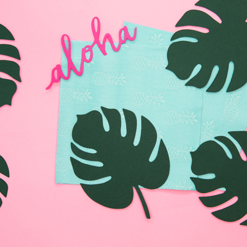 Slika za Party Deco®  Dekoracija za stol Aloha Monstera 6 kom