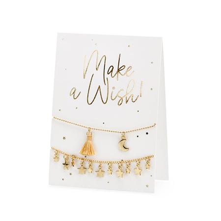 Slika za Party Deco® Čestitka s narukvicama Make a Wish