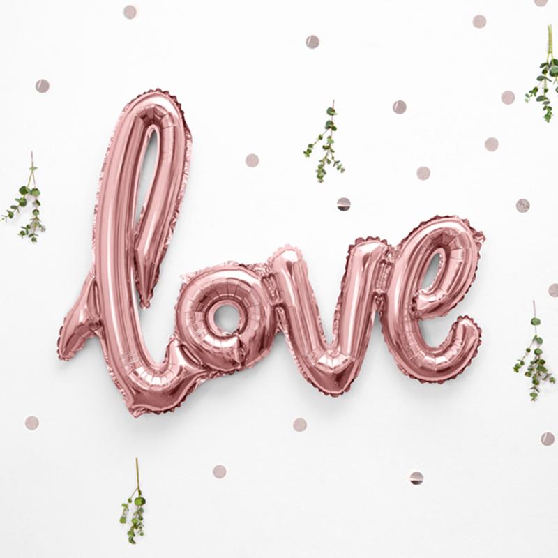Slika za Party Deco® Balon Love Rose Gold