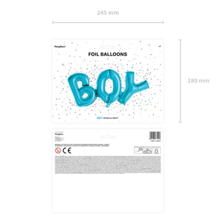 Slika za  Party Deco® Balon u obliku natpisa Boy Blue