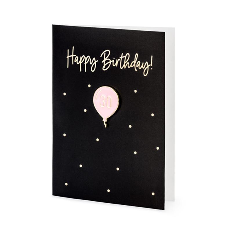 Slika za Party Deco®  Čestitka s brošem broja 30