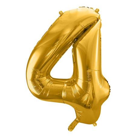 Slika za Party Deco® Balon u obliku broja 4 Gold