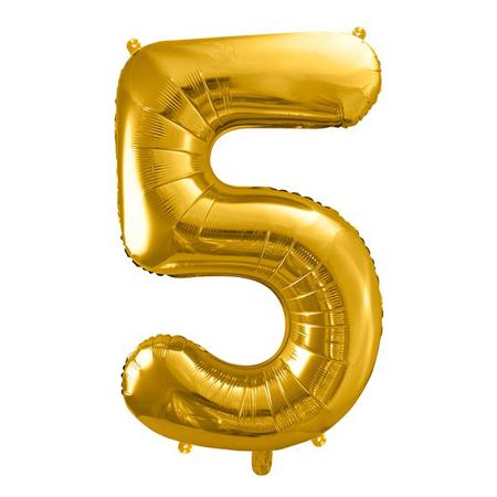 Slika za Party Deco® Balon u obliku broja 5 Gold