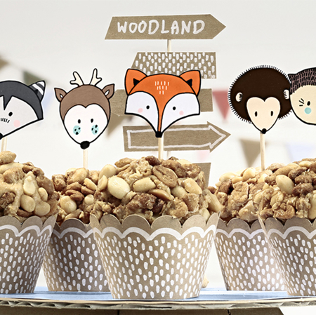 Slika za Party Deco® Komplet ukrasa za tortu Šuma