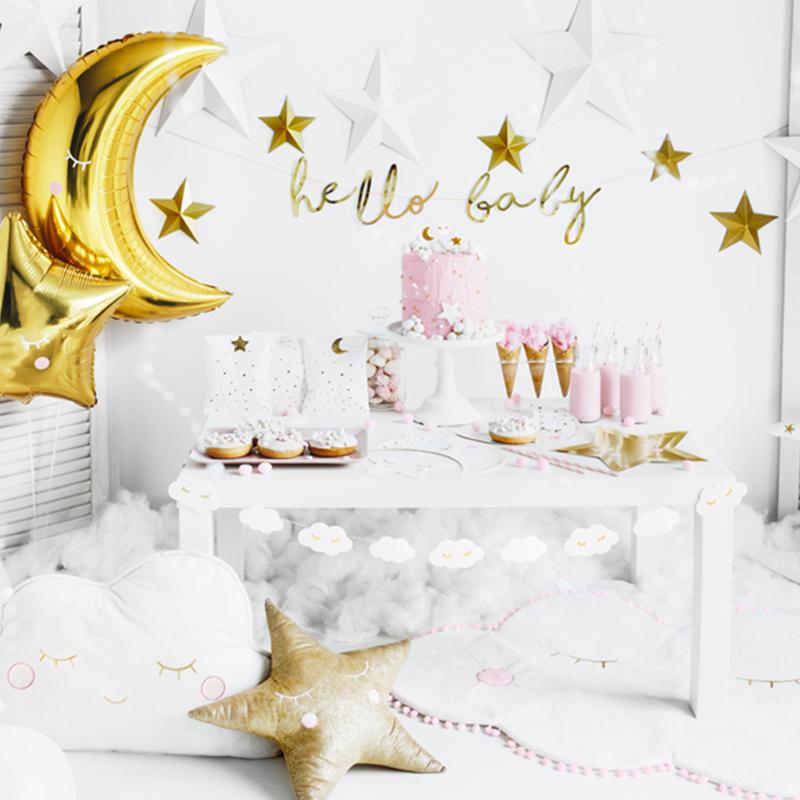 Slika za Party Deco® Viseći Little Star Hello Baby Gold