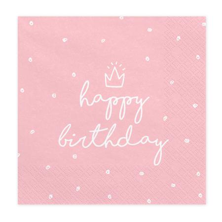 Party Deco® Troslojne salvete Happy Birthday 20 komada