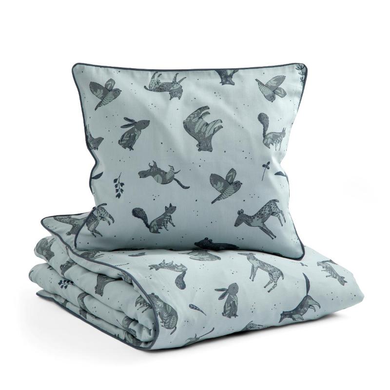 Slika za Sebra® Dječja posteljina Nightfall Hazy Blue 100x140