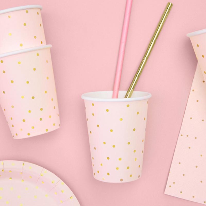 Slika za Party Deco® Čašice Točkice Light Pink