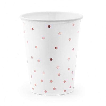 Slika za Party Deco® Čašice Točkice White