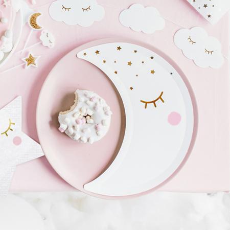 Slika za Party Deco® Tanjurići Mala Zvijezda- Mjesec White