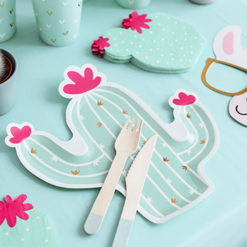 Slika za Party Deco®  Papirni tanjurići Kaktus