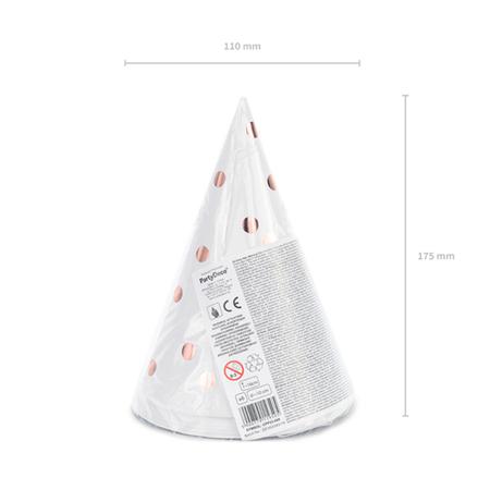 Slika za Party Deco® Party šeširić s točkicama White