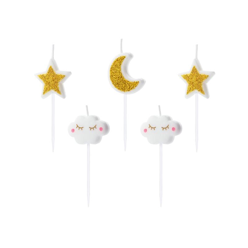 Slika za  Party Deco® Svijećice Mjesec i zvjezdice