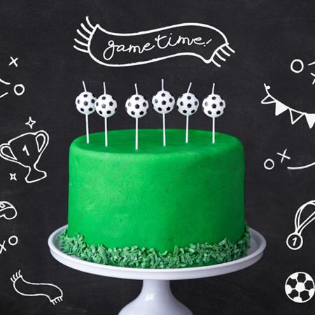 Slika za Party Deco®  Svijećice Nogometna lopta
