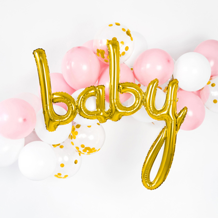Slika za Party Deco® Balon Baby Gold