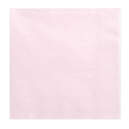 Slika za Party Deco® Troslojne salvete Powder Pink 20 komada