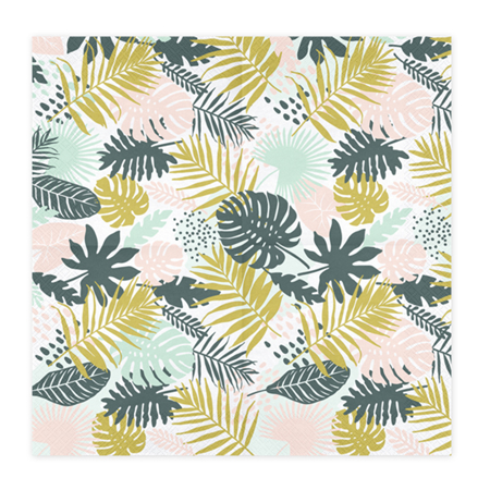 Slika za Party Deco® Troslojne Salvete Aloha Leaves