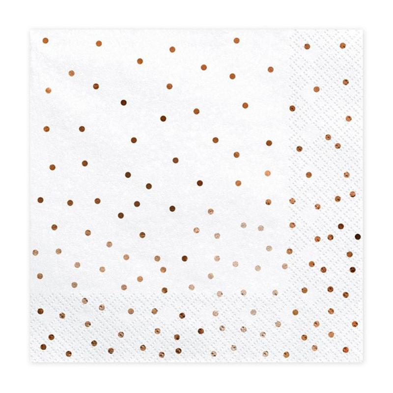 Slika za Party Deco® Troslojne Salvete Točkice White