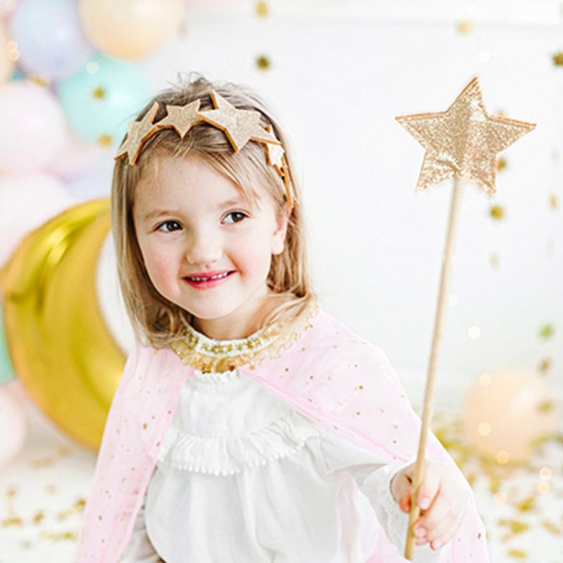 Slika za Party Deco® Obruč Zvijezde Gold