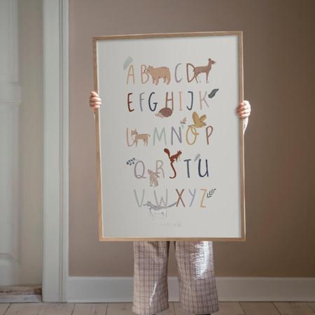 Sebra® Plakat s abecedom A-Z Nightfall