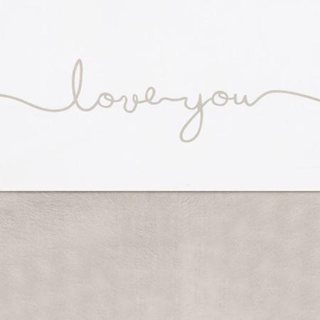 Slika za Jollein® Pamučna plahta Love you Nougat 100x75