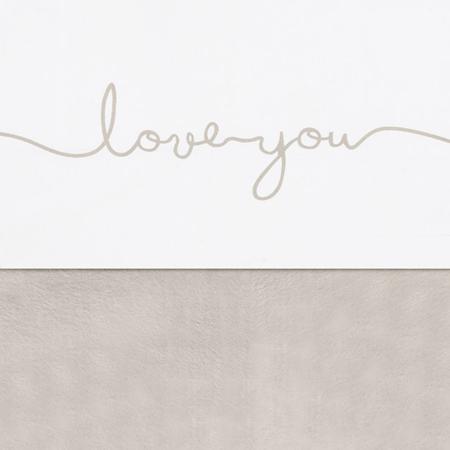 Jollein® Pamučna plahta Love you Nougat 150x120