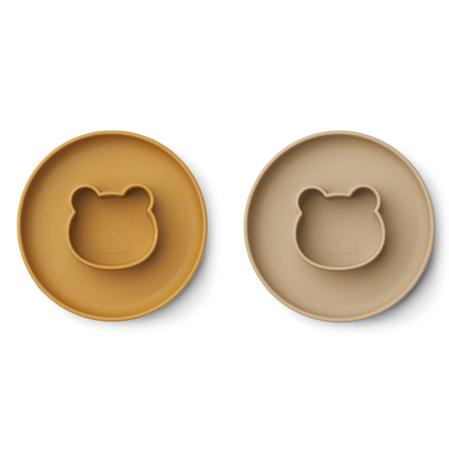 Slika za Liewood® Komplet silikonskih tanjura Mr Bear golden caramel/oat mix
