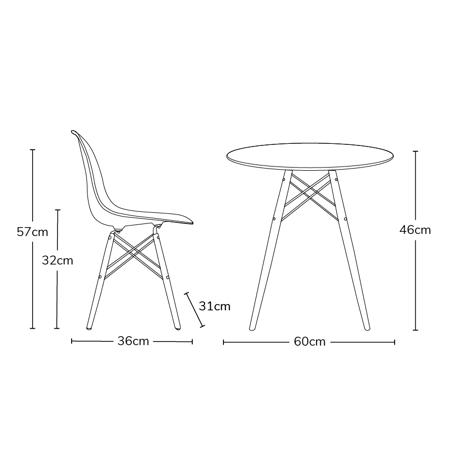 Slika za EM Furniture Set stolića i 2 stolice White