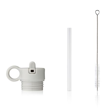 Liewood® Poklopac sa slamkom i četkicom za bočicu Falk 250ml  Light grey
