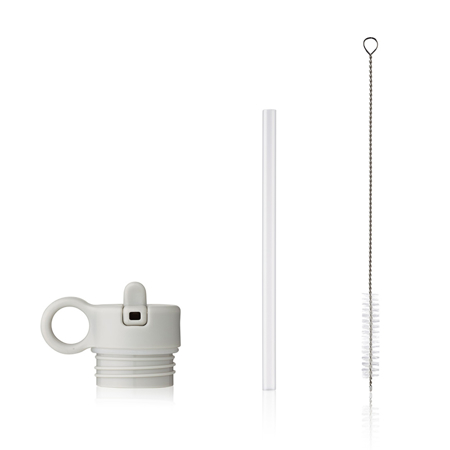 Slika za Liewood® Poklopac sa slamkom i četkicom za bočicu Falk 350ml Light Grey