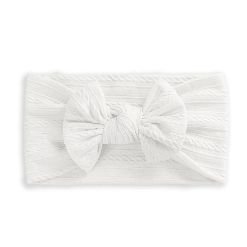 Slika za Elastična traka za kosu s mašnicom Boho White