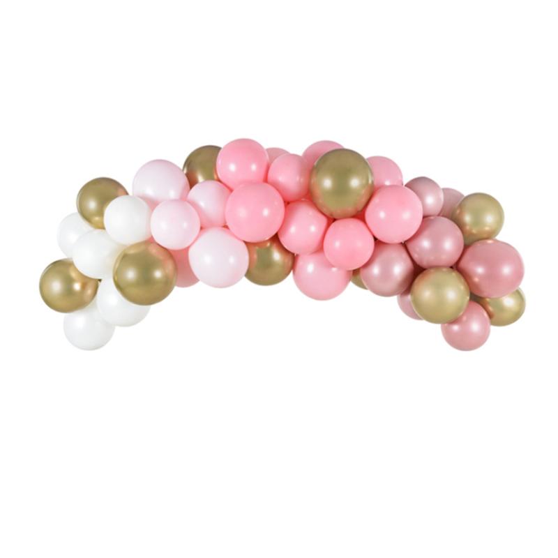 Slika za Party Deco®  Luk od balona Pink 60 komada