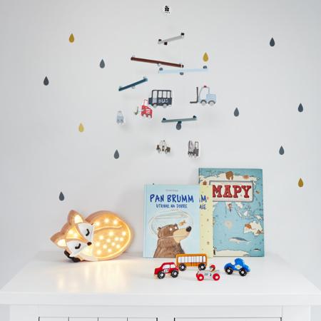 Slika za Little Lights® Ručno napravljena drvena lampa Fox Wild Orange