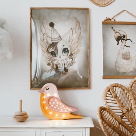 Slika za Little Lights® Ručno napravljena drvena lampa Bird Honey