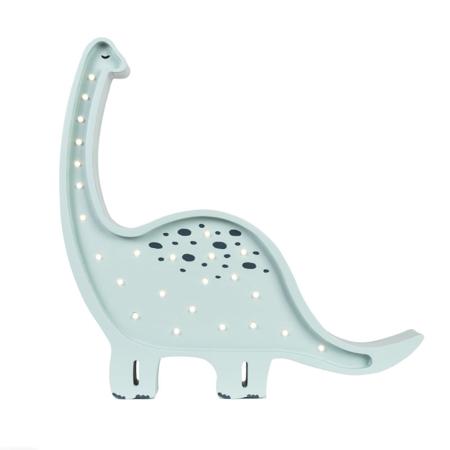 Slika za Little Lights® Ručno napravljena drvena lampa Dino Diplodocus Prehistoric Blue