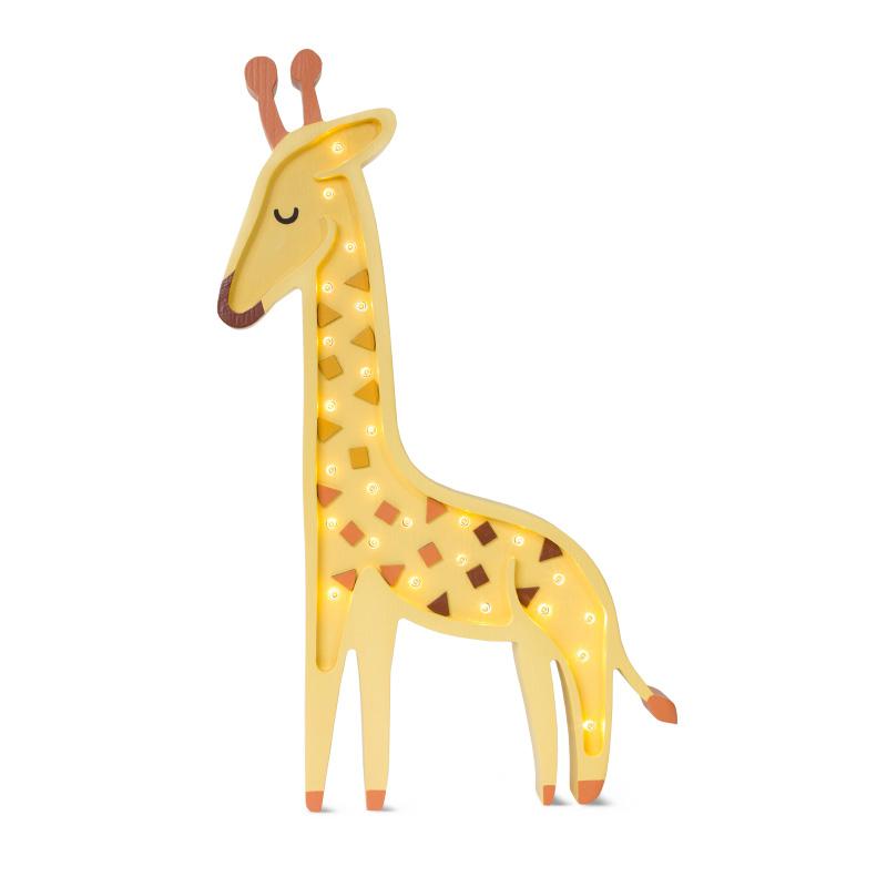 Slika za Little Lights® Ručno napravljena drvena lampa Giraffe Yellow