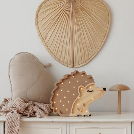 Little Lights® Ručno napravljena drvena lampa Hedgehog