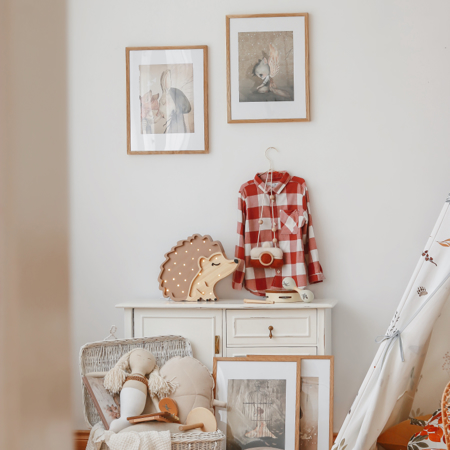 Slika za Little Lights® Ručno napravljena drvena lampa Hedgehog