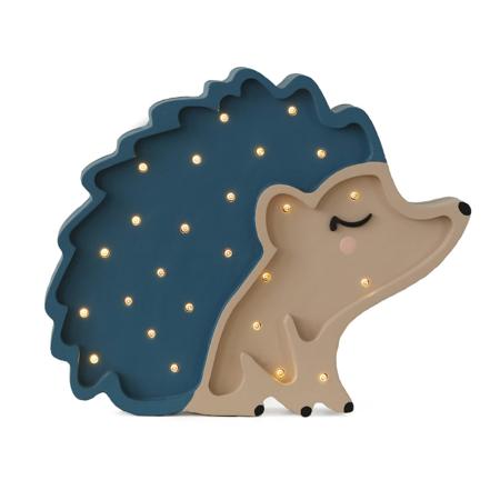 Slika za Little Lights® Ručno napravljena drvena lampa Hedgehog Blue