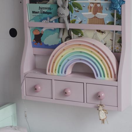 Slika za  Little Lights® Ručno napravljena drvena lampa Rainbow Pastel