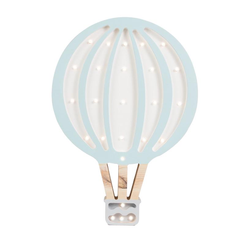 Slika za Little Lights® Ručno napravljena drvena lampa Hotairbaloon Blue Sky