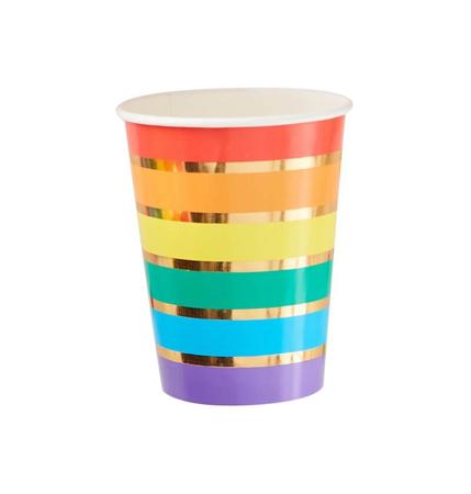 Slika za  Ginger Ray® Papirne čašice Rainbow Gold 8 kom
