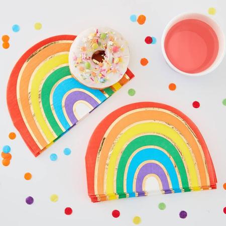 Ginger Ray® Papirne salvete Rainbow Gold 16 kom